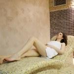 Girl in spa — Stock Photo
