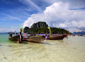 Boats in Andaman sea in Thailand — Stock Photo