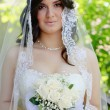 Bride on the wedding day — Stock Photo