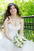 Bride on the wedding day — Stock Photo