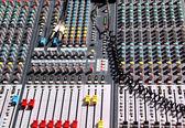 Soundboard mixer — Stock Photo