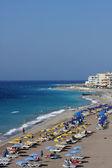 Beach at Rhodes, Greece — Stock Photo