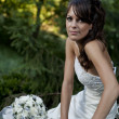 Bride in park — Stock Photo