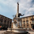 Fontana dell'Elefante in Catania — Stock Photo