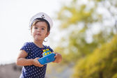 Little sailor girl — Stock Photo