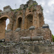 Teatro Greco in Taormina, Sicily - Stock Photo