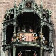 Glockenspiel on New Town Hall (Neues Rathaus) in Munich — Stock Photo