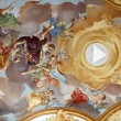 Fresco Ceiling at St. Peter's Church in Munich, Germany — Stock Photo