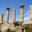 Royalty-Free Stock Photo: Dorian columns of Temple of Heracles in Agrigento, Sicily, Italy
