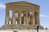Temple of Concordia in Agrigento, Italy — Stok fotoğraf