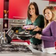 Girls in the kitchen — Foto de Stock