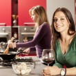 Girls in kitchen — Stock Photo #16214197