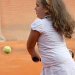 Tennis girl — Stock Photo