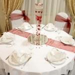 Wedding table — Stock Photo