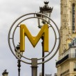 Paris metro sign - Stock Photo