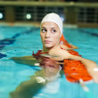 Swimming girl - Foto Stock