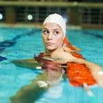 Swimming girl — Stock Photo