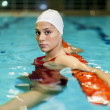 Swimming girl - Stockfoto