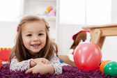 Girl playing in the room — Stock Photo