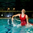 Waterpolo girl — Stockfoto #17821639