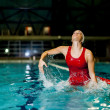 Foto de Stock  : Waterpolo girl