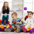Kids playing in the room — Stockfoto #18103837