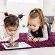 Kids with tablet — Stock Photo #18103849