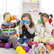 Kids playing in the room — Stockfoto #18103855