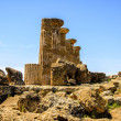 Dorian columns of Temple of Heracles in Agrigento, Sicily, Italy - Stok fotoraf