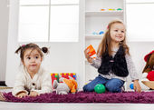Girls playing in the room — Stock Photo