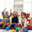 Kids playing in room — Stock Photo #18328425