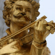 Statue of Johann Strauss in stadtpark in Vienna — Stock Photo