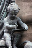 Angel sculpture from Barcelona, Spain — Stock Photo