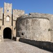 Knight fortress in Rhodes, Greece - Foto Stock