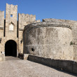 Knight fortress in Rhodes, Greece - Stockfoto
