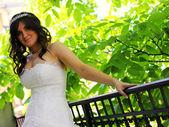 невеста в день свадьбы — Стоковое фото