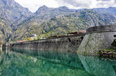 Kotor City Wall Fortification, Montenegro — 图库照片