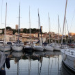 Cannes harbor - Stock Photo