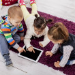 Kids with tablet — Stock Photo #19848205