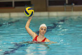 Waterpolo girl — Stock Photo