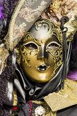 Traditional Venetian carnival mask — Stock Photo