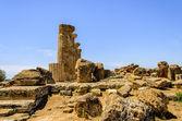 Dorian sütunları tapınağı herakles agrigento, sicilya, i̇talya — Stok fotoğraf