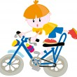 Boy with bicycle — Stock Vector