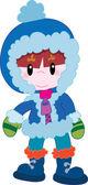 Boy in winter clothes — Stock Vector