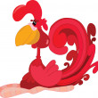 Stock Vector: Rooster