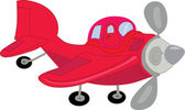 Red airplane — Vector de stock