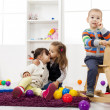 Kids playing in the room — Stock Photo #22765154