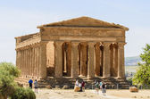 Ancient Greek Temple of Concordia, Agrigento, Sicily, Italy — Stok fotoğraf