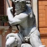 Fountain of Neptune on Piazza Navona, Rome — Stock Photo