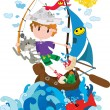 Royalty-Free Stock Vector Image: Little sailor